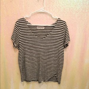 UO Project Social T striped v-neck